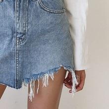 Summer Jeans Skirt Women High Waist MT
