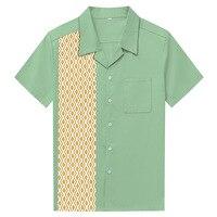 Summer Men S Fashion Leisure Camisa Masculina Cotton Short Sleeve Shirt Male Lapel Diamond Printing Casual