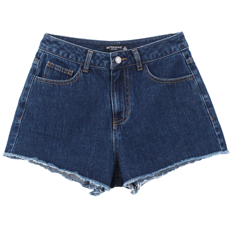 HSTYLE 2018 Summer Denim Shorts Women Korean Style Stretch Casual Basic Pocket Jeans Shorts Hair Edge Fashi Short Jeans feminino