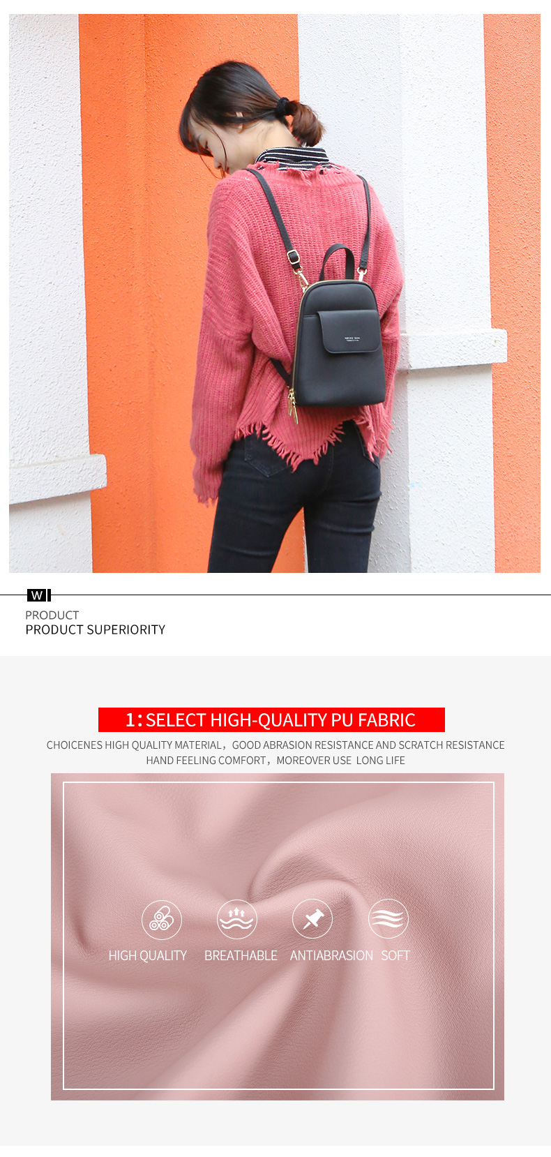 HTB1z KoadzvK1RkSnfoq6zMwVXao WEICHEN Multi-Function Women Backpack Fashion Small Backpack Female Leather Ladies Shoulder Bag Girl Satchel Mini Mochila Purse