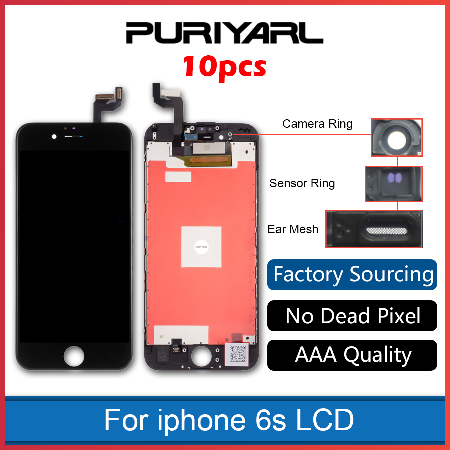 10pcs AAA For iPhone 6S Full LCD 3D Touch Screen Digitizer Assembly Bezel Frame Display Pantalla Screen Replacement Black White