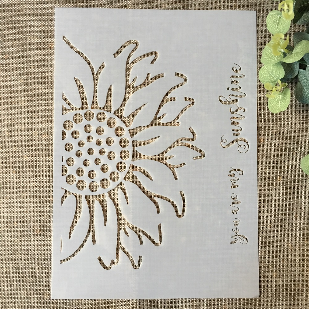 29*21cm Half Sunflower DIY Layering Stencils Wall Painting Scrapbook Coloring Embossing Album Decorative Paper Card Template