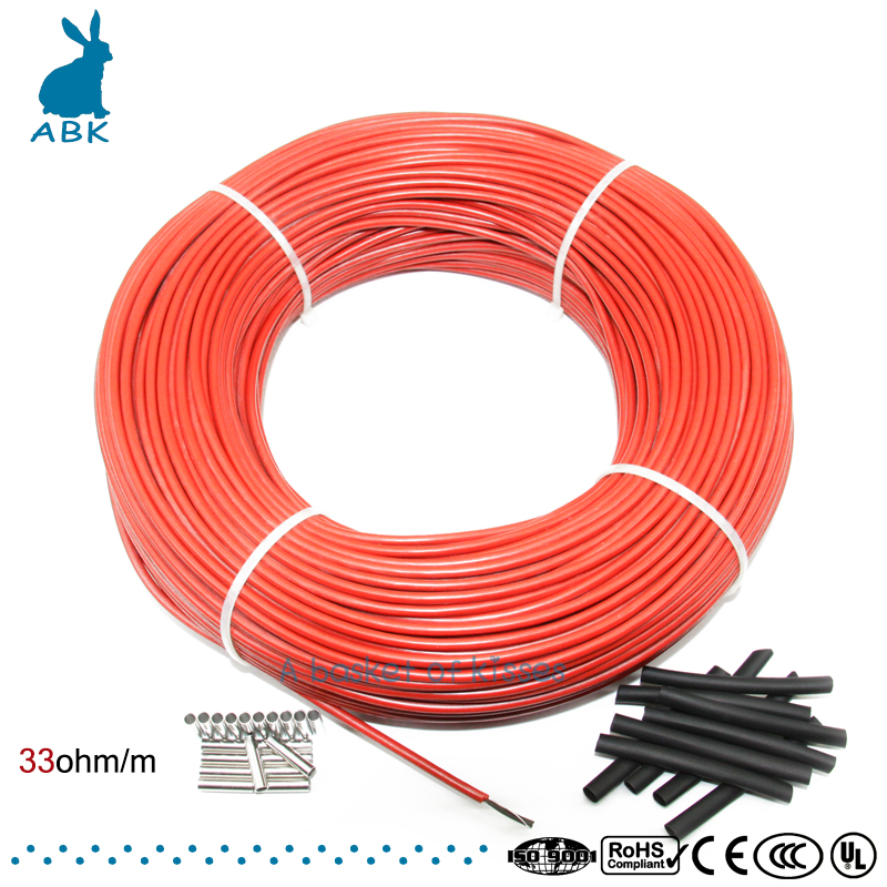 12K 100meters carbon fiber low cost heating wire Heating cable Anti freezing thermal insulation floor heating system недорго, оригинальная цена