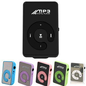 Mirror-Clip Music-Player Mp3 Support Sd-Tf-Card Digital Mini 8GB USB Aaae-Top Pink/white