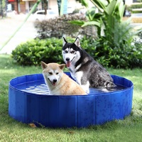 Foldable Pet Dog Swimming Pools PVC Dog Cat Summer Bathing Tub Large Space Collapsible Outdoor Washing Pond Waterproof Dog House