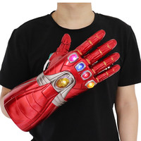 [New] Costume party Marvel Avengers Final battle Iron Man Gloves LED Light model toys Action Figure Cosplay Action Figure gift