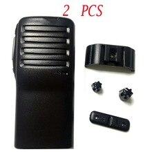 2 PCS Radio Service Parts Caso Refurb para ICOM IC F26 Botão PTT Botão Shell walkie talkie yaesu rádio comunicador de Peças caso