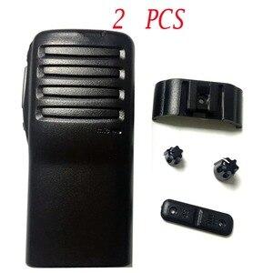 Image 1 - 2 PCS Radio Service Parts Caso Refurb para ICOM IC F26 Botão PTT Botão Shell walkie talkie yaesu rádio comunicador de Peças caso