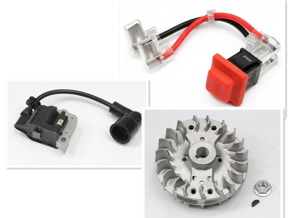 Rovan 5 rc car gas engine set flywheel ignition coil engine stop switch kill for 26cc