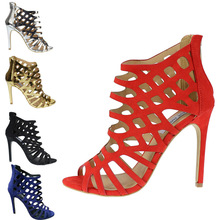 Summer ladies's sneakers vogue attractive open toe stiletto bundle with cutout high-heeled sandals