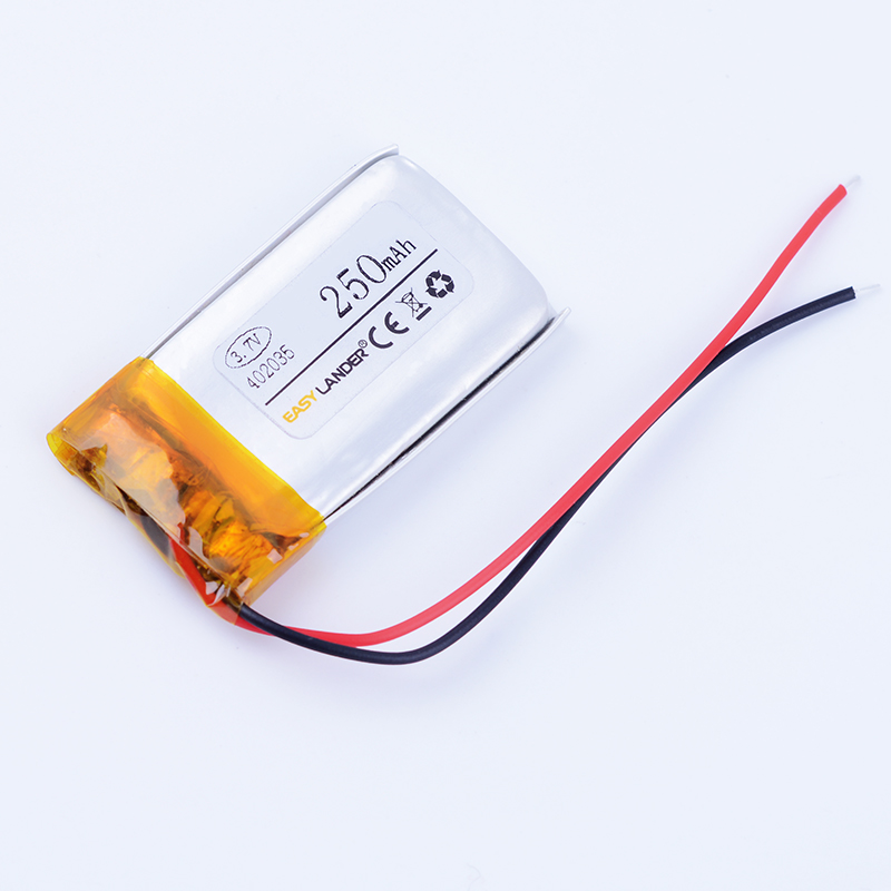 <font><b>3.7V</b></font> 250mAh Li Polymer <font><b>Battery</b></font> For GPS PDA MP3 MP4 Game Player mouse recorder speaker RC small toys 042035 <font><b>402035</b></font> 402136 452035 image