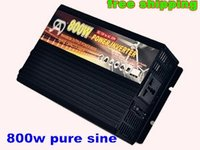 DHL freeshipping 800W Pure Sine Wave Power Inverter DC/AC Inverter For Wind/ Solar PV System DC12/24/48V to AC220 CE Approval!