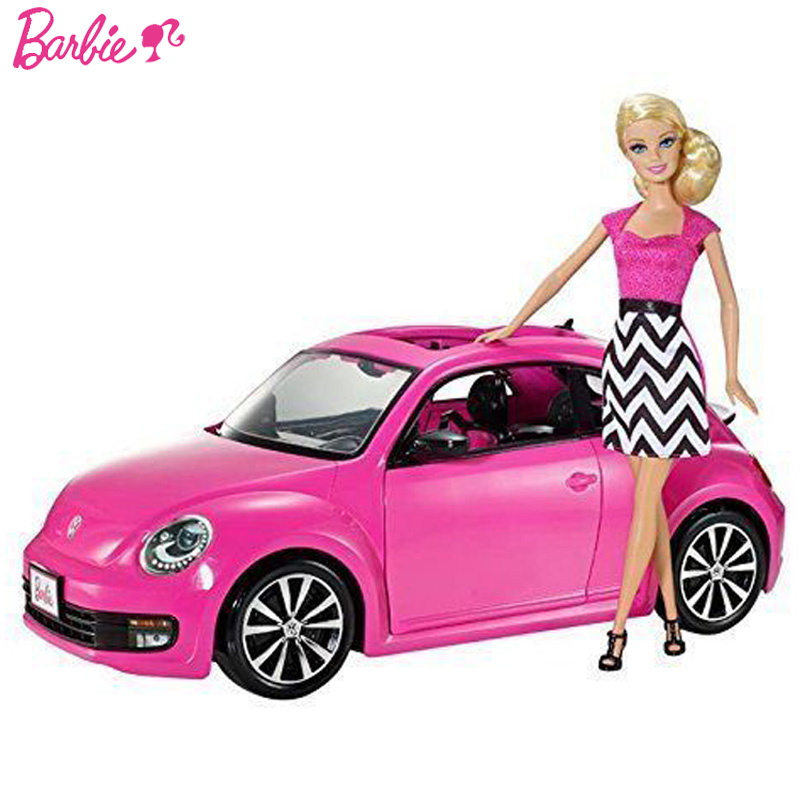Barbie Doll Princess Girl Toy Flashes Beetle Car With A