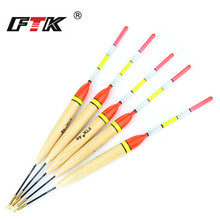 FTK 5pcs/pack 4g/5g/6g/7g Barguzinsky Fir Float 20cm-22cm Fishing Vertical Buoy FishingTackle For Carp