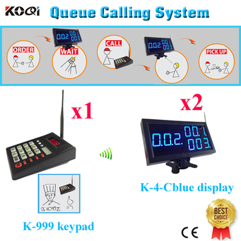 Paging System Popular In Fast Food Restaurant Restaurant Table Buzzer Bell Give Customer Waiting( 1 keypad + 2 display s