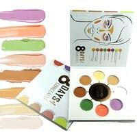 ZD 1Pc 8 Colors Concealer Palette Corretivo Maquiagem Oil Control Face Cream Makeup Correcteur Cernes Face Contouring F2125