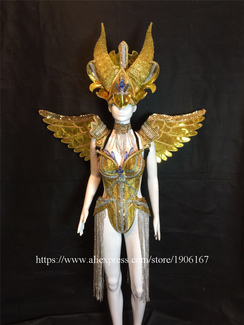 Bar ballroom dance led costumes dress bellydance butterfiy wings colorful led wear clothes stage dj sexy led bra 15