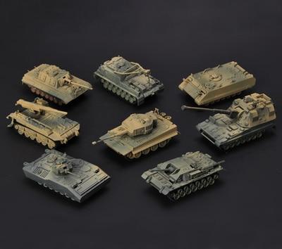 Model Building Kits 1pcs 1:72 4d Plastic Assemble Tank Kits World War Ii Model Puzzle Assembling Military Sand Table Toys For Children Discounts Sale