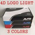 4D Led BRANCO VERMELHO AZUL Estacionamento estilo Do Carro Logotipo TRASEIRO Do Emblema Do Emblema Adesivo LEVOU luz para SUBARU/FORD/NISSAN/HYUNDAI/BMW