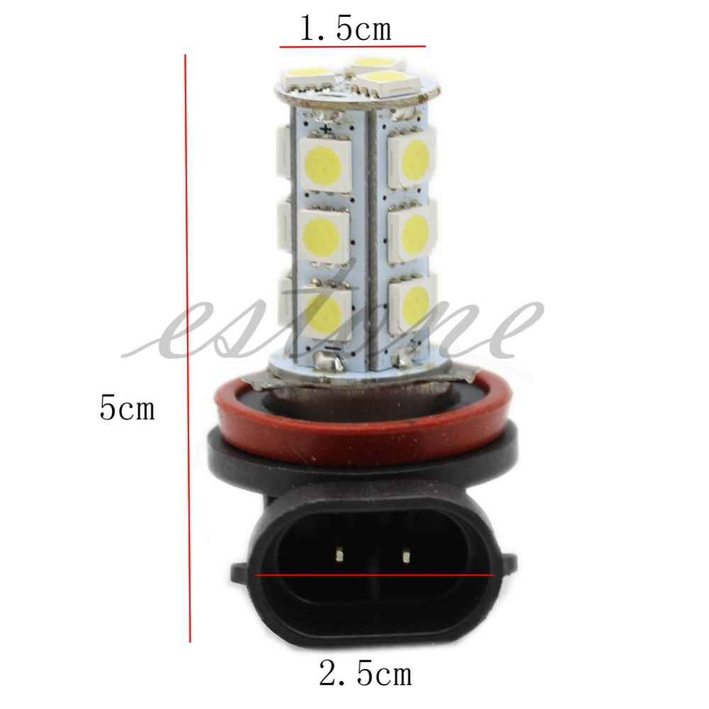 Hot H8 H11 18-LED 5050 SMD Car Day Driving Fog Head Lamp light Bulb Xenon White new arrival