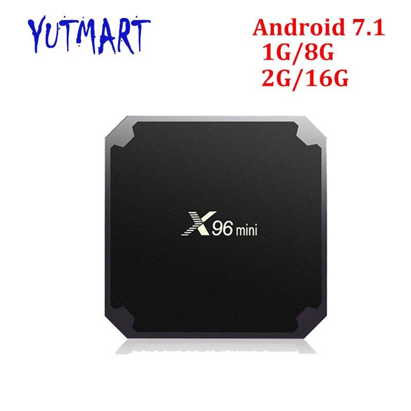 [X96 Mini] Android 7.1 Smart TV BOX 2GB16GB 1GB8GB Amlogic S905W Quad Core 4K 30tps WiFi 2.4GHz X96mini IPTV Set-top box mi розового золота 2gb16gb