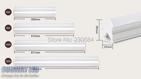 200v240v 6w 9w 14w 18w 1ft 2ft 3ft 4ft bar light t5 led tube - T5 Light Fixtures