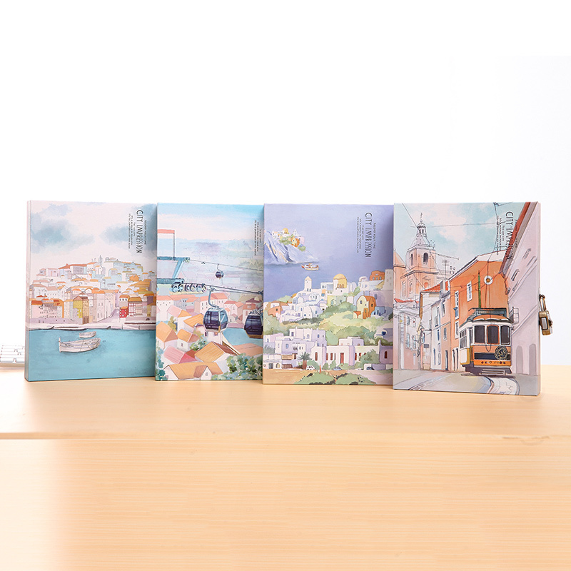 City Image Hard Cover Notebook Art Drawings Dairy Journal Lock Box Gift Package половик baby 180 180 270316 270321