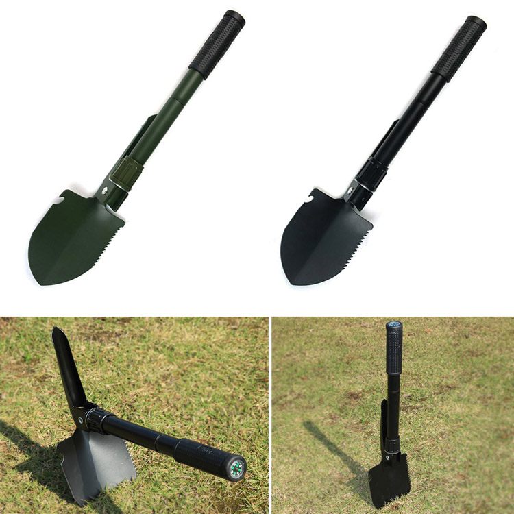 Portable Military  Folding Shovel Survival Spade Trowel Dibble Garden Camping Outdoor Emergency Palaplegable Tool --M25