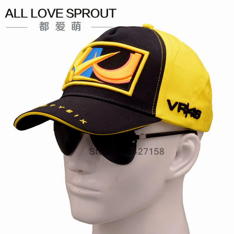 2017 Cotton VR46 Racing Cap Rossi Signature Moto Gp Motorcycle Car Race Caps  Breathable Baseball Cap  For Men Women 2016 new cotton sports rossi vr46 caps motogp racing motorcycle baseball cap car visors sun hats casquette