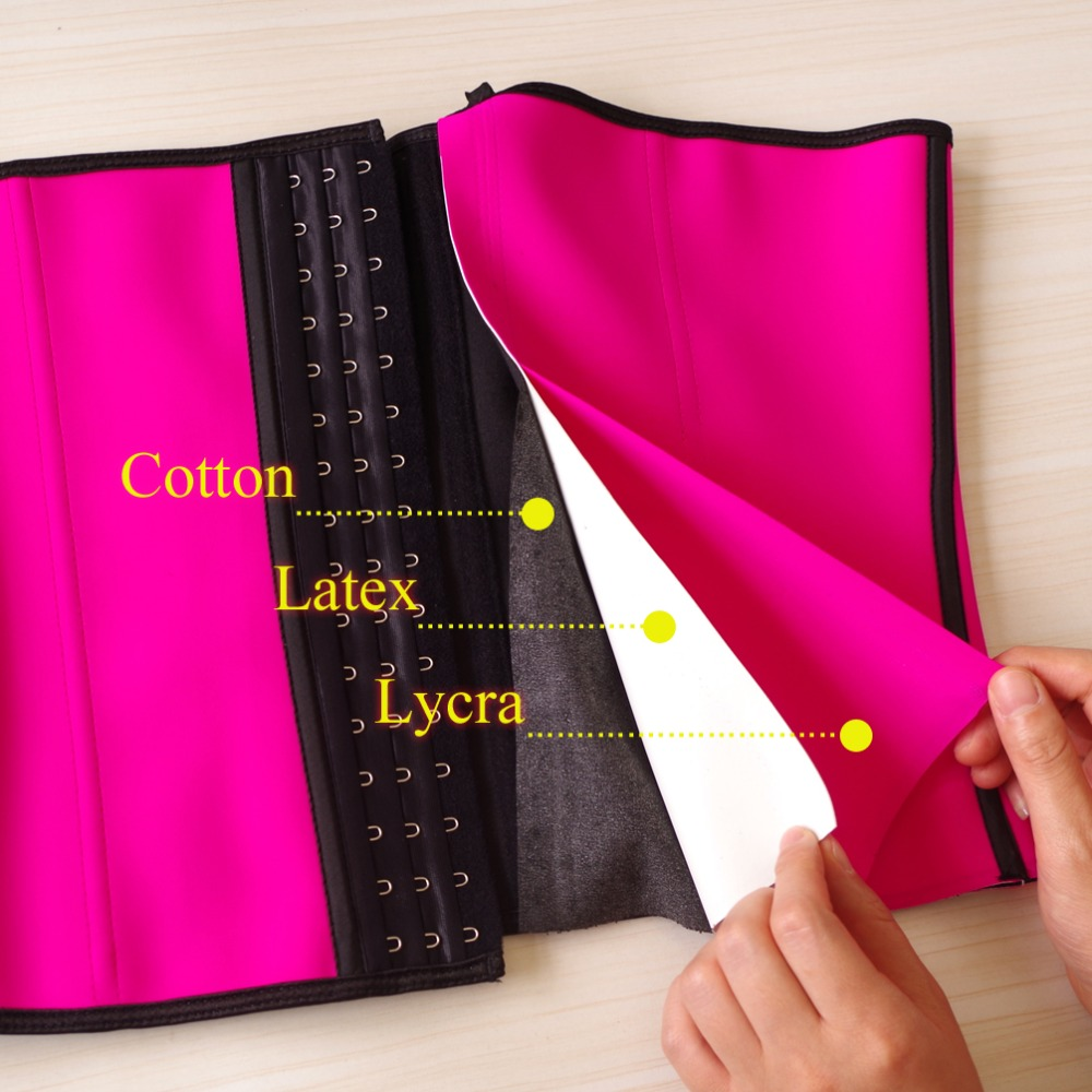3 Layers Female Rubber Waist Shaper Sexy Waist Cincher Women Waist Trainer Corset Latex Sashes Shapewear Modeling Strap