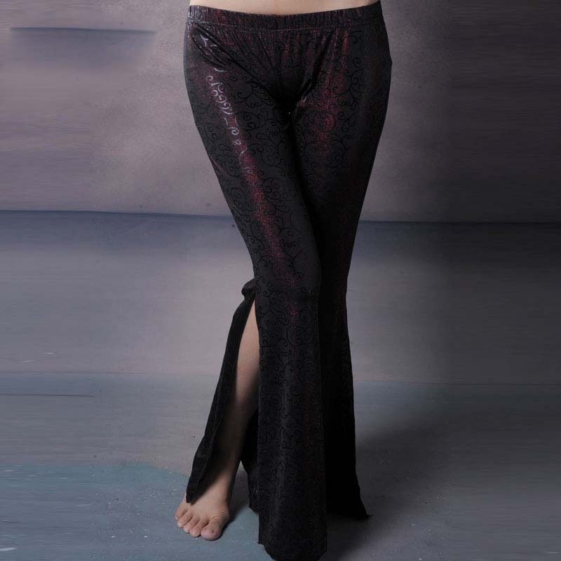 New Belly Dance Costumes Senior Sexy Pattern Split  Belly Dance  Pants For Women Belly Dance  Trousers