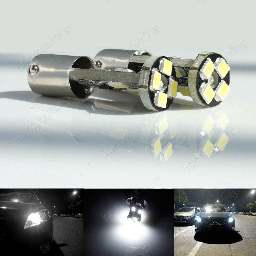 2x H6W BAX9s 8 SMD LED 433 434 Ampoule Parking Côté Lumière Blanc Sans Erreur Mercedes (CA230)
