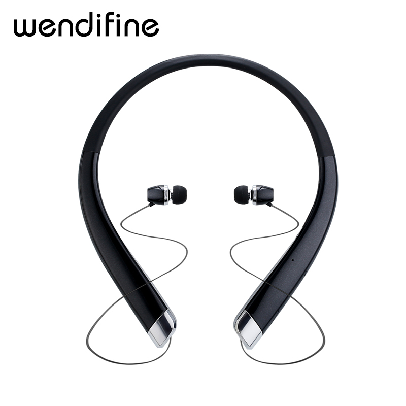 Bluetooth Headset Retractable Earbuds Neckband Sport Headphones Wireless Stereo Bluetooth Earphones with Mic For iphone xiaomi 100% original bluetooth headset wireless headphones with mic for blackview bv6000 earbuds