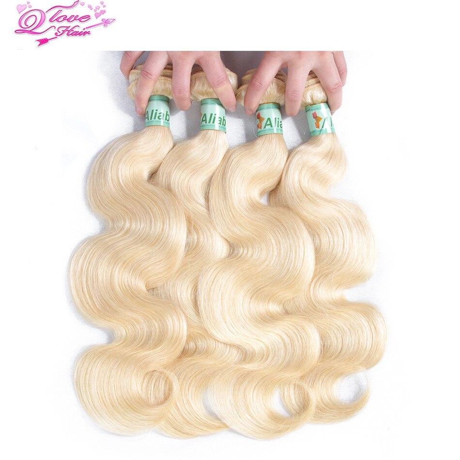 Queen Love Hair Non-Remi Malaysia Body Wave Hair Curlers 613 Hair Braided 4 Bundles Human Hair Extensions
