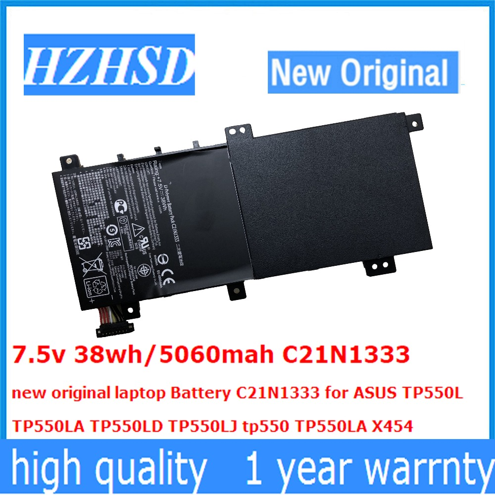 7.5v 38wh/5060mah C21N1333 new original laptop Battery C21N1333 for ASUS TP550L TP550LA TP550LD TP550LJ tp550 TP550LA X454