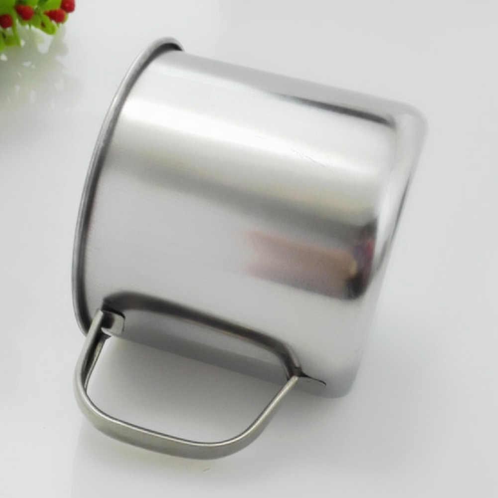 Neue 1Pc Durable Outdoor Camping Wandern Tee Becher Tasse Edelstahl Kaffee Tasse ohne Deckel Leicht zu Reinigen