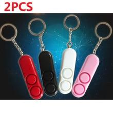 Free Shipping 2pcs/Lot Self Defense Alarm Keychain Alarm Personal Security Alarm Anti-Attack Anti-Rape Emergency Alarm For Women