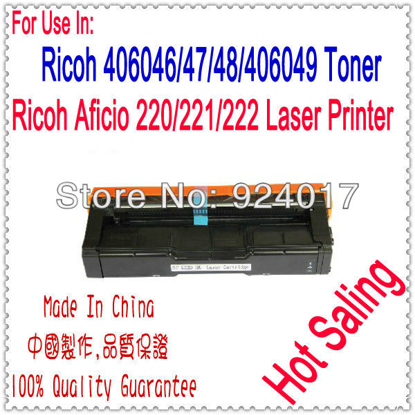 Compatible Ricoh SPC220 SPC221 SPC222 Toner Cartridge,For Ricoh Aficio SP C220DN C220N C220S C221DN C221N C221SF Toner Catridge powder for savin sp c221 dn for gestetner sp222 sf for ricoh imagio sp c 240 sf new compatible copier powder lowest shipping
