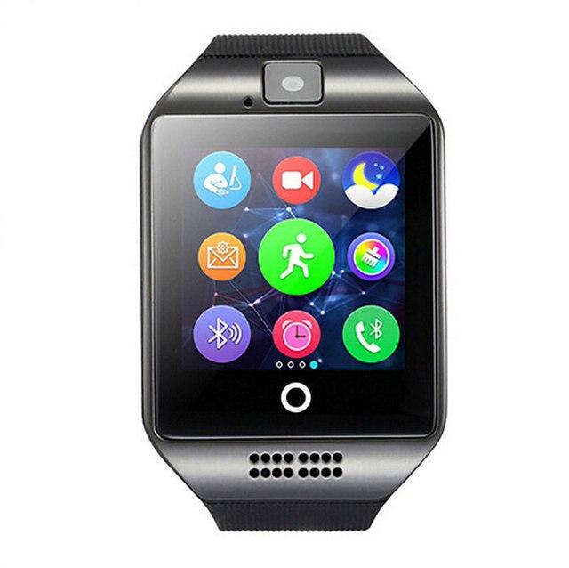 Dispositifs portables Q18 Passometer montre Smart watch avec Écran Tactile caméra TF carte Bluetooth smartwatch pour Android IOS Téléphone