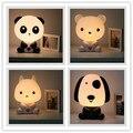 Hot!! 1 PCS Animal Bonito Panda Dos Desenhos Animados Asseclas Bebê Luz da Noite LEVOU lâmpada de Mesa Lâmpada de Mesa de Cabeceira Noite Dormindo Led Noite Crianças presente