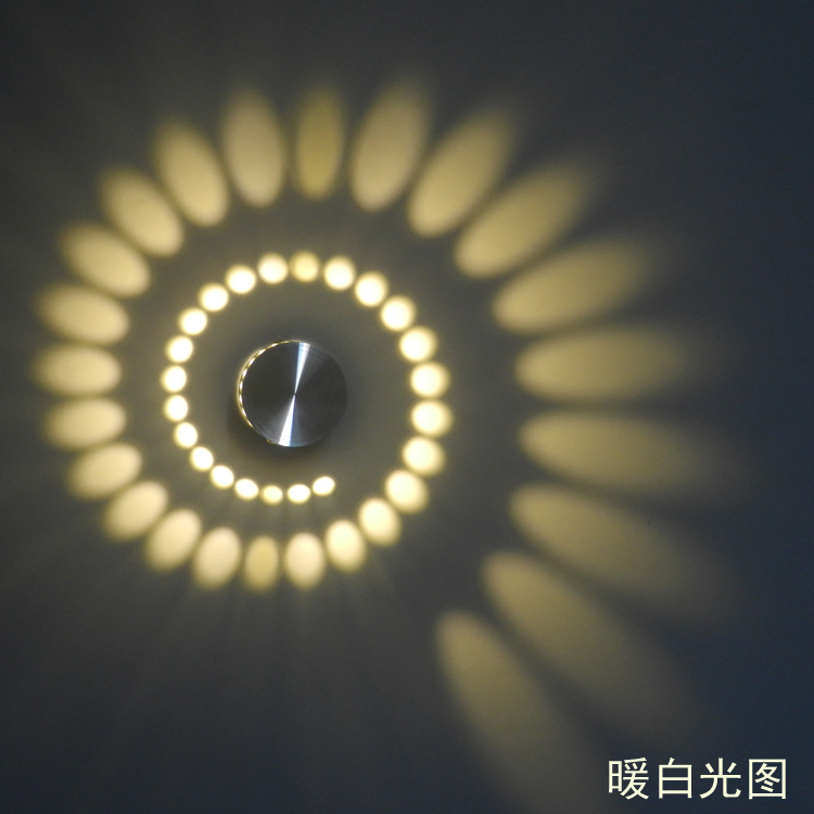 Wall Lamps Drawing : New LED Modern Light LED Wall Lamp 3W Art Light For Background Warm White Color 85 265V-in Wall ...