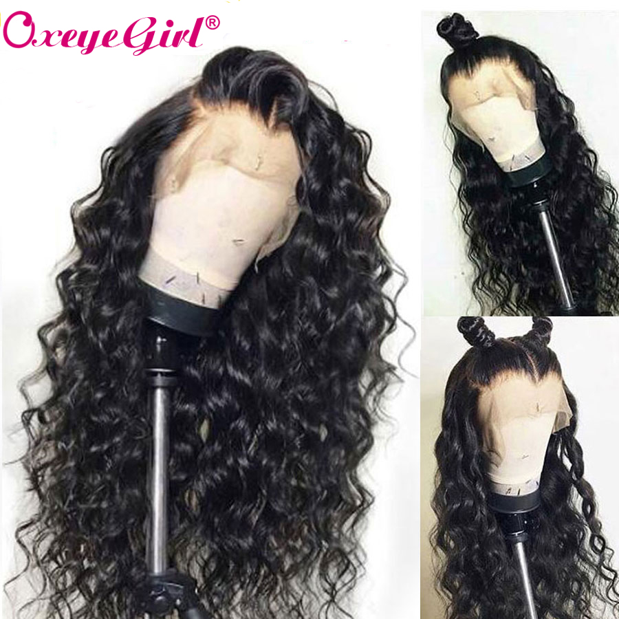 Oxeye girl Glueless Lace Front Human Hair Wigs For Black Women Peruvian Water Wave None Remy Hair Wigs With Baby Hair 10