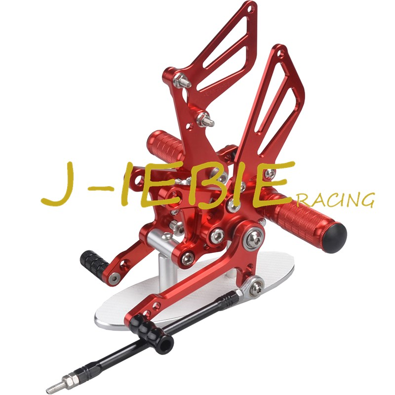CNC Racing Rearset Adjustable Rear Sets Foot pegs For Suzuki GSXR1000 2001-2004 GSXR600 GSXR750 2001-2005 SV650 SV1000 RED adjustable rider rear sets rearset footrest foot rest pegs gold for suzuki gsxr600 gsxr750 gsxr 600 750 2011 2012 2013 2014 2015