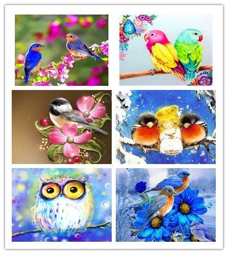 5D DIY Diamond Painting Bird on The Branch Picture of Rhinestones Mosaic Cross Stitch Kit Diamond Embroidery Sale Animals Decor