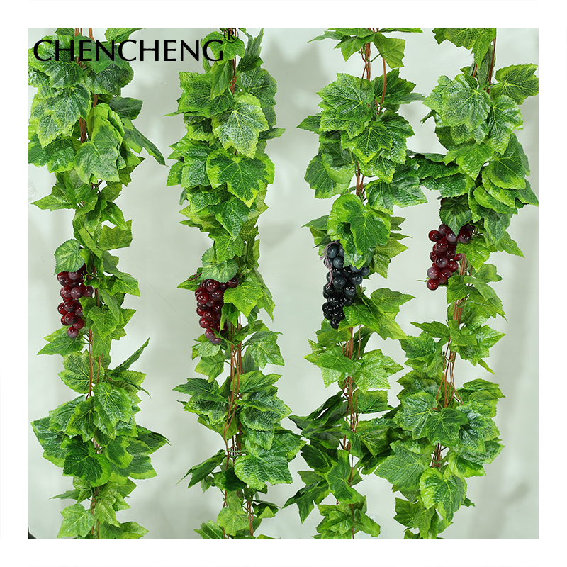 CHENCHENG 5 Pieces / Lot Artificial Silk Plant Grape Vines Garland Ivy Creative Simulation For Wedding Garden Home Decoration