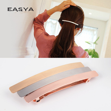 EASYA High Quality Solid Color Hair Barrettes For Women Large Metal Hair Accessories Headwear Hairpin Clips