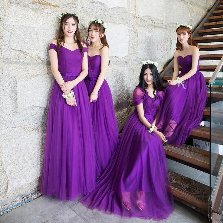 Bonito Vestidos De Dama De Color Púrpura Y Plata Friso - Ideas para ...