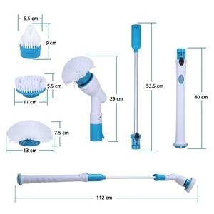 Image 5 - Turbo Scrub Elektrische Borstel Verstelbare Waterdicht Schoner Draadloze Opladen Schone Badkamer Keuken Cleaning Tools Set
