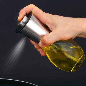 Olive Oil Sprayer Dispenser For Bbq/Cooking/Vinegar Glass Bottle With Leak-Proof, Spice Drops Jar Seasoning Kitchen Tools