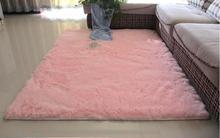 Simple modern plush carpet living room coffee table floating window mat lovely girl Princess